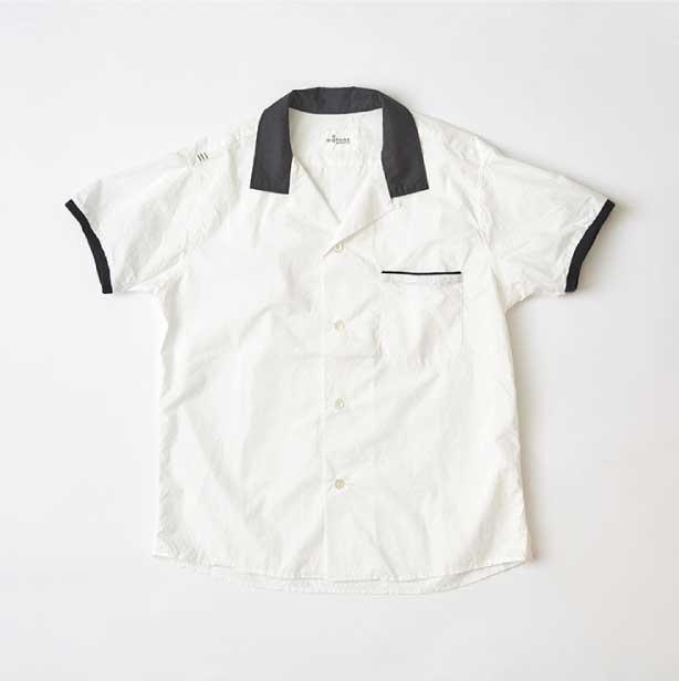 メンズ/レディス オープンカラー S/S 黒